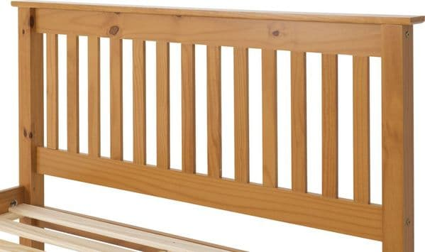 Doyle Double Bed Pine Low